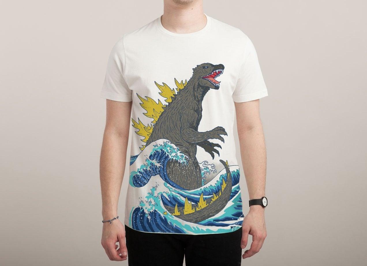 葛飾北斎っぽくもありゴジラっぽくもあるTシャツ
