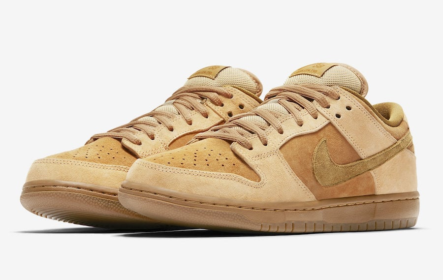 NikeSB Dunk Low Reverse Reese ForbesNike SB Dunk Low ReverseReeseForbesWheat 01