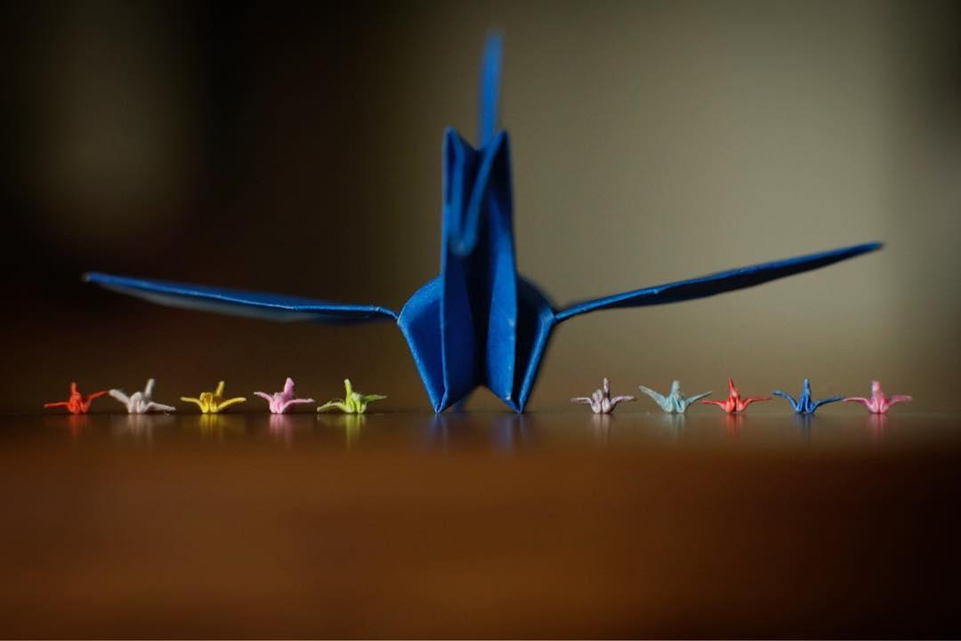 メチャクチャ小さい折り鶴、製作時間は45分