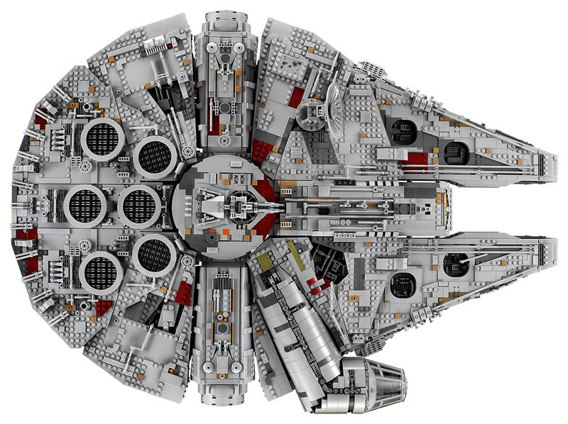 LEGOからミレニアム・ファルコンのセット、パーツは7,541個!!