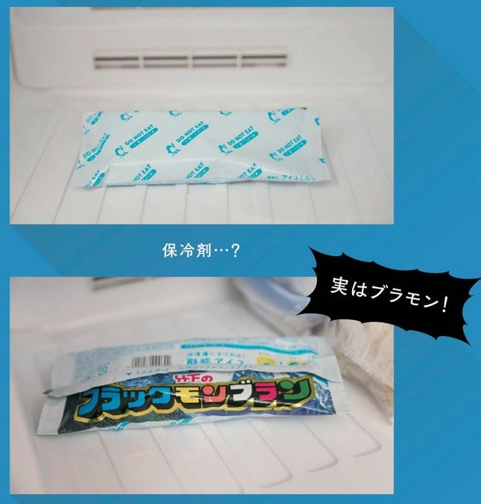 盗み食い防止!!保冷剤に擬態するアイス