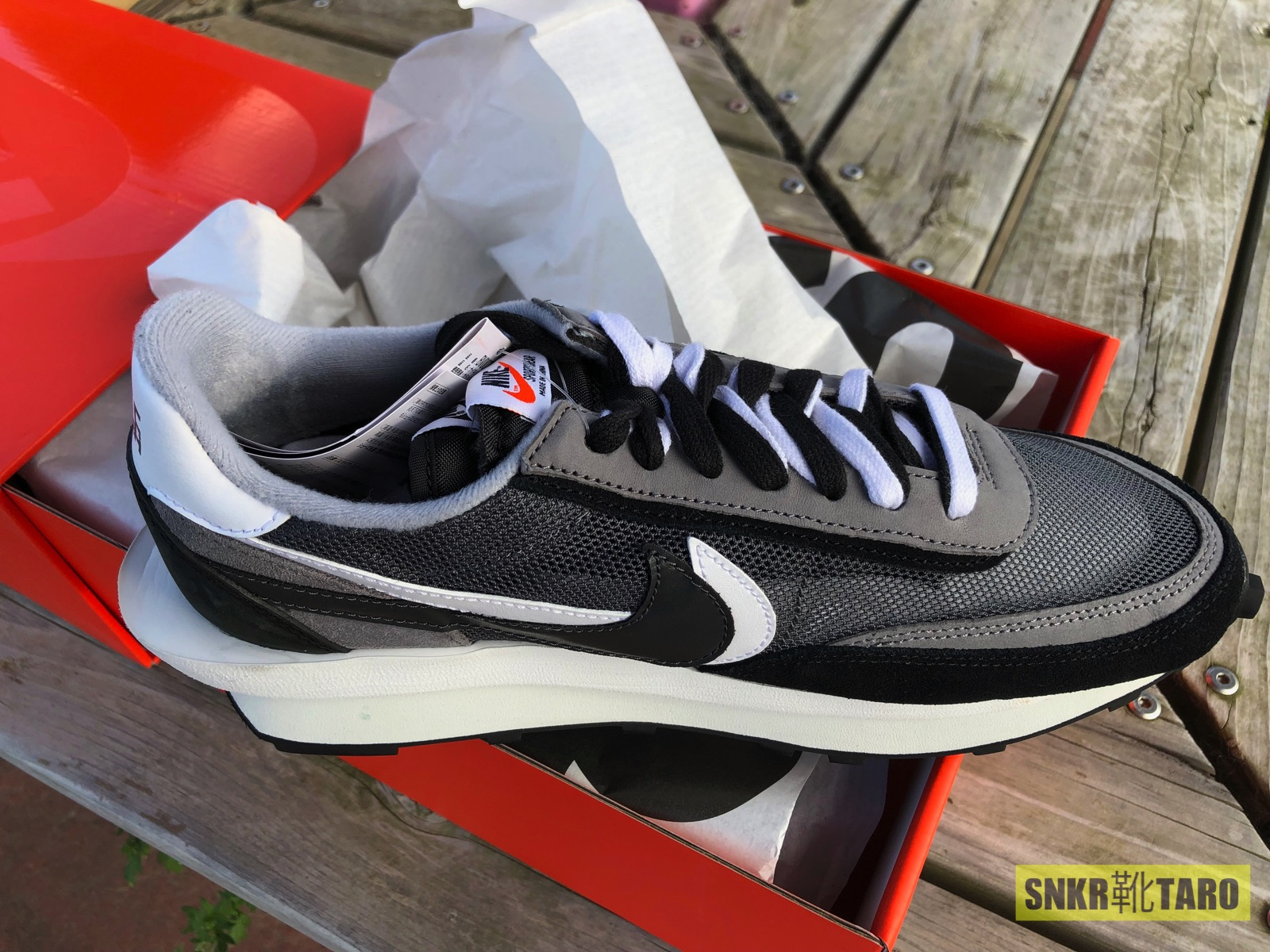 実物レビュー、Sacai x Nike LD Waffle Black