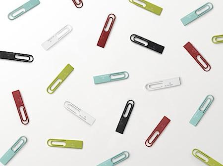 Elecom Data Clip 4GB Flash Drive by Nendo